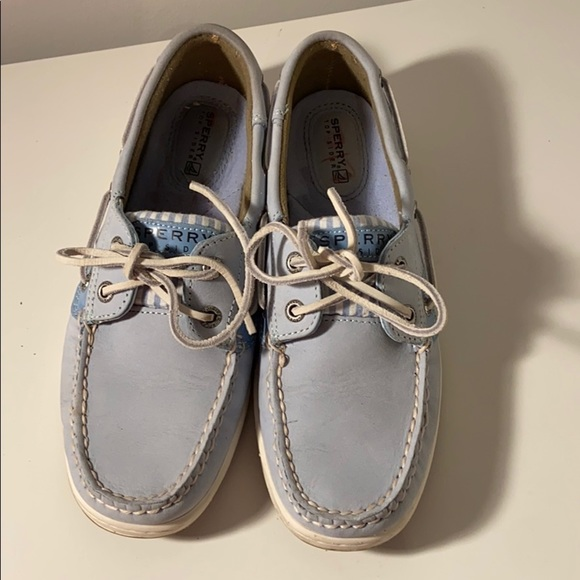 Baby Blue Sperry Top Siders